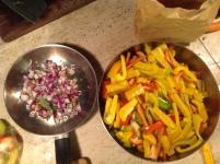 La peperonata, da cucinare